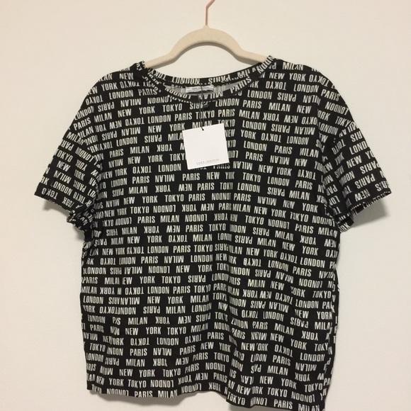 baf72928 Zara Black & White Shirt NWT
